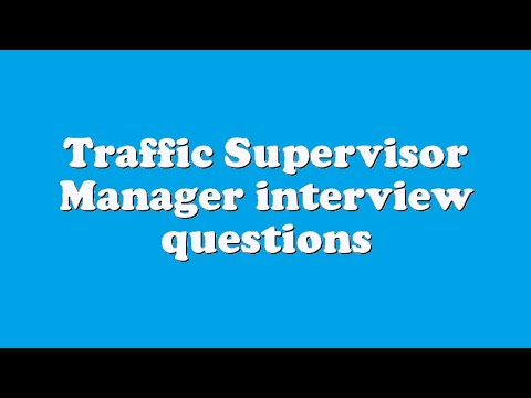 interview questions for a supervisor position