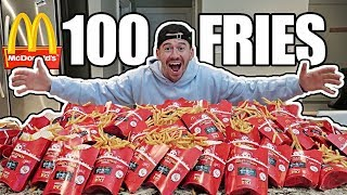 100 MCDONALD'S FRENCH FRIES EXPERIMENT!! *MONOPOLY JACKPOT CHALLENGE*