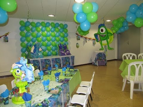 DECORACION FIESTA TEMATICA INFANTIL MONSTER UNIVERSITY MEDELLIN Videos De Viajes