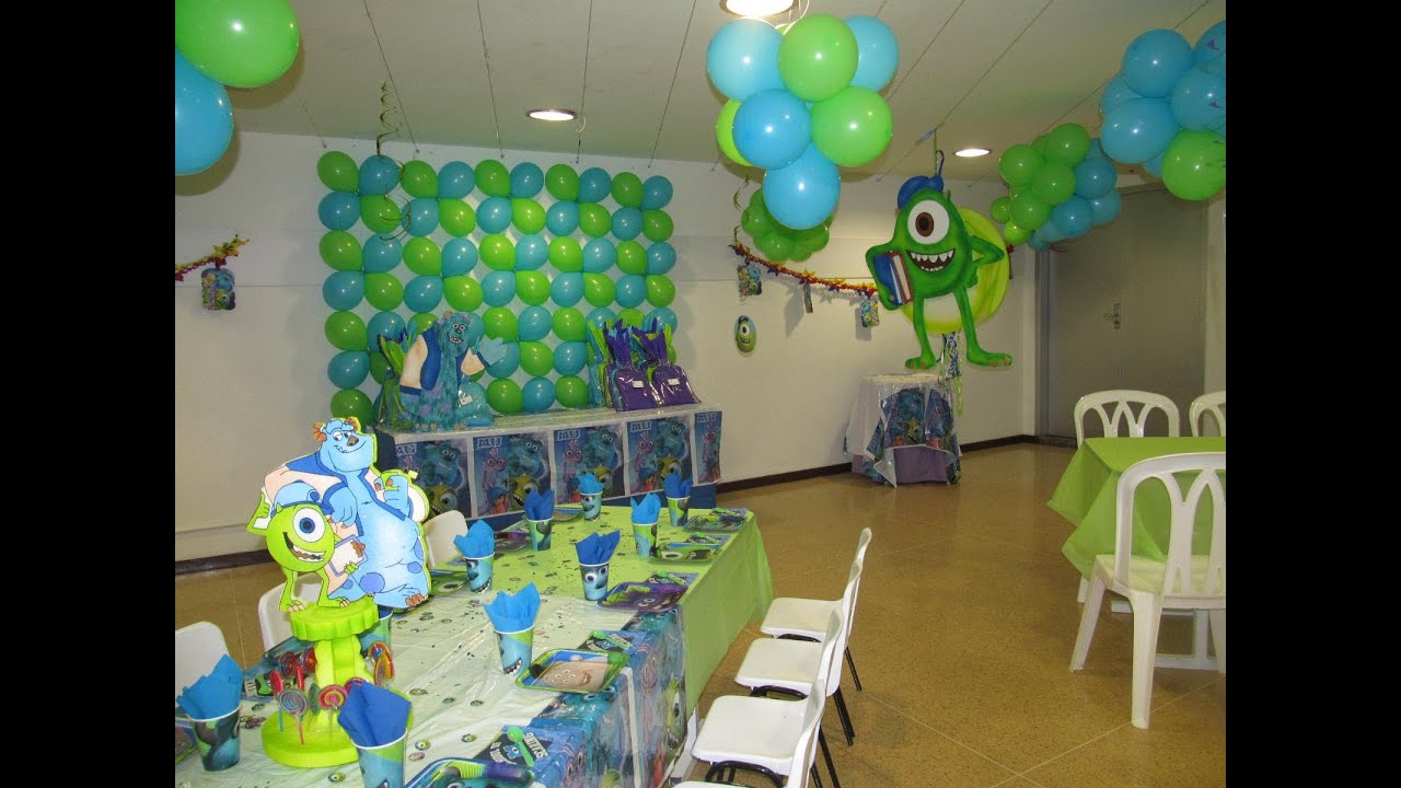 decoracion fiesta tematica infantil monster university medellin youtube