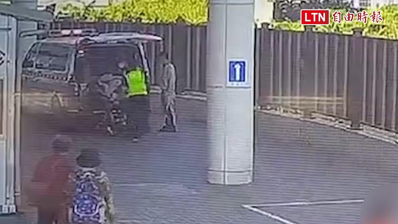 國6匝道驚傳女子從大貨車摔出 腿斷急送醫