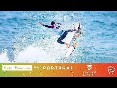 Flores Vs. Silva Vs. Fioravanti - Seeding Round, Heat 8 - MEO Rip Curl Pro Portugal 2019