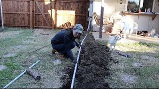 Burying A Compressed Air Line