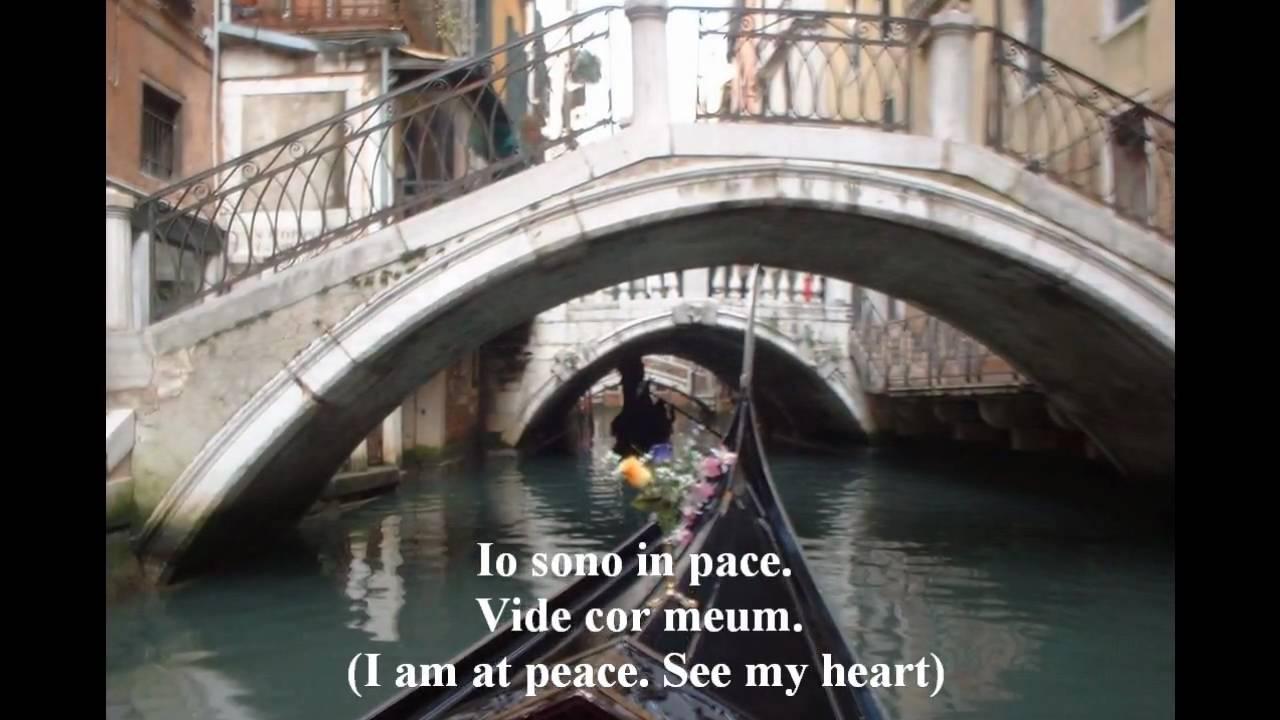 Vide cor meum - libretto in Italian
