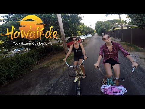 Bike ride along North Shore / Oahu