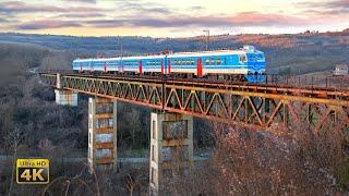 Rail traffic in Serbia - Tunnels and bridge Parcani and Ralja -- Old Belgrade - Nis mainline [4K]