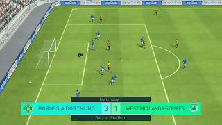 Using Manager Pep Guardiola 4-3-3 Sim Match PES 2018 Mobile