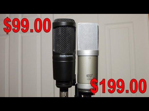 The Audio-Technica AT2020 vs the MXL V250