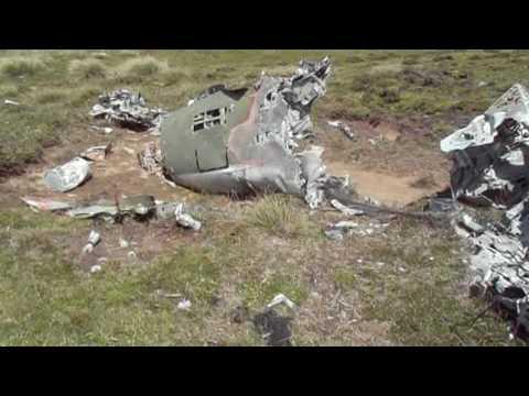 Falklands Mirage jet wreckage