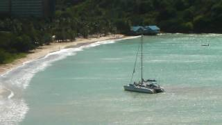 Antigua - Deep Bay Royal Antiguan anchored catamaran 1