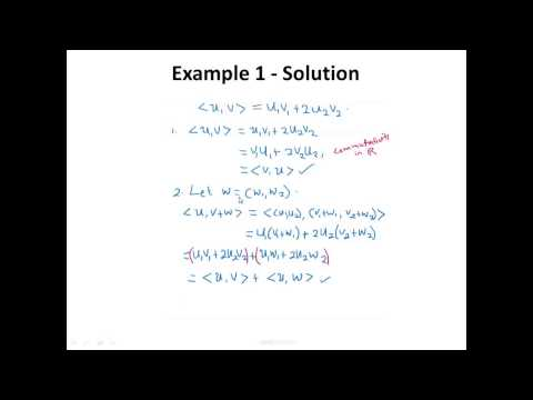 Lecture 25 Inner Product Spaces
