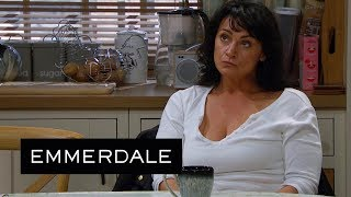 Emmerdale - Moira Is Concerned That Pete Will Tell Cain About Her and Nate
