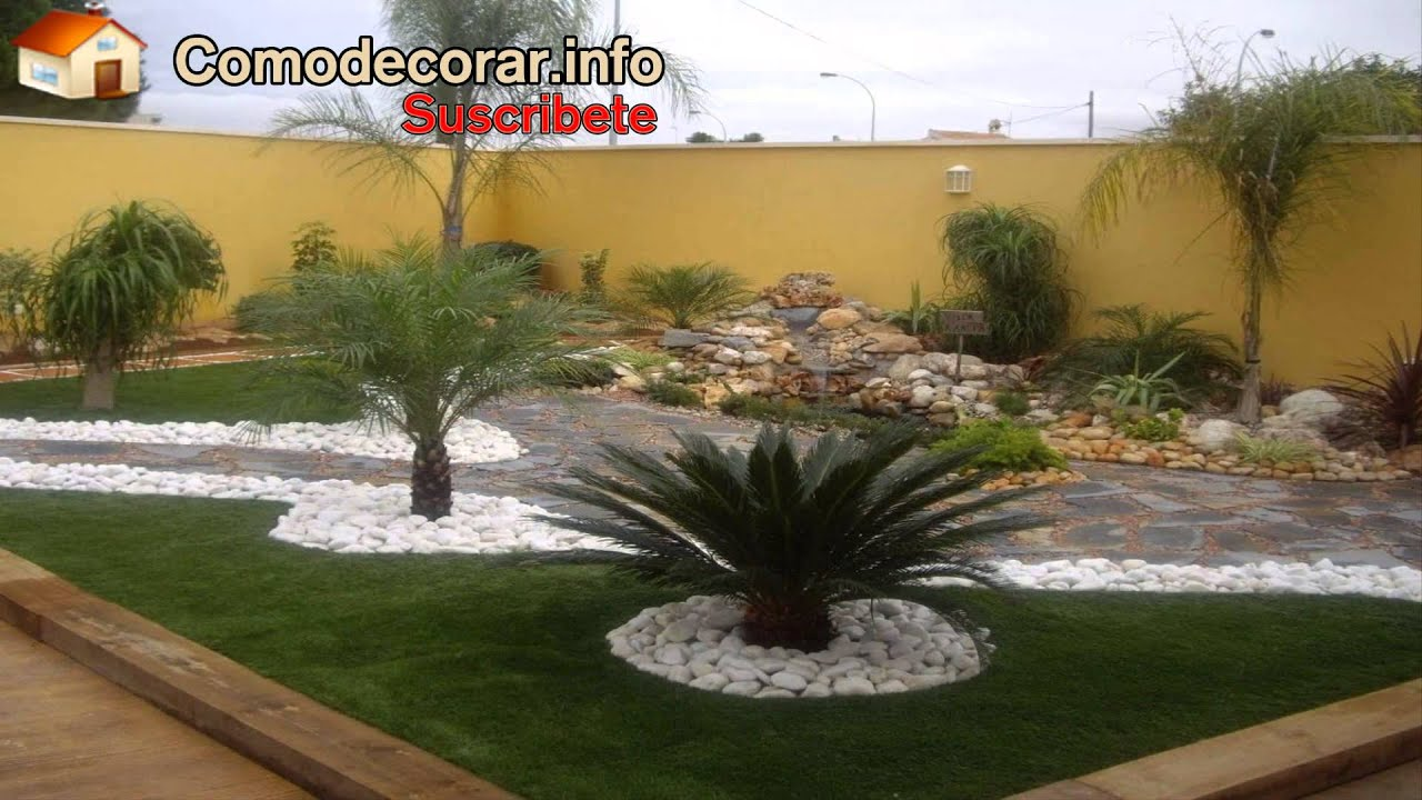 Como decorar tu jardin youtube for Como decorar