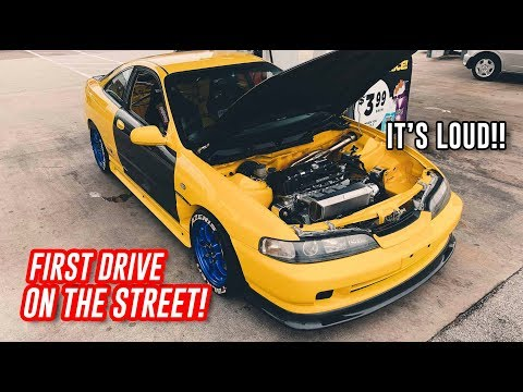 I DROVE MY K24 INTEGRA FOR THE FIRST TIME!!