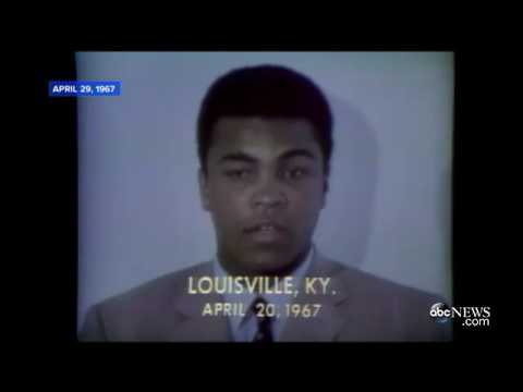 Muhammad Ali Refuses Army Induction 1967 ABC NEWS