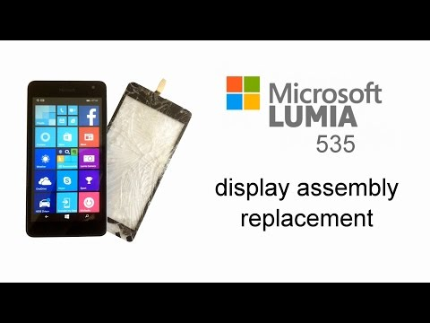 Microsoft Lumia 535 - Touch Screen Glass Digitizer Replacement, LCD Display, Disassembly