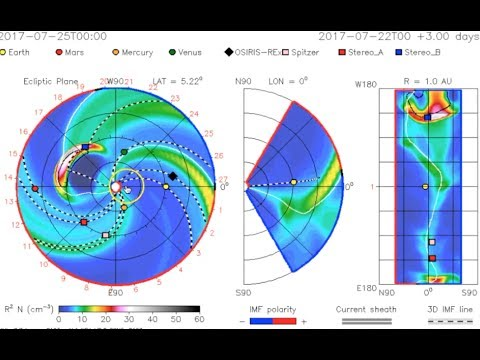 CME Tracking, Quake Watch, Cosmic Rays | S0 News July.24.2017
