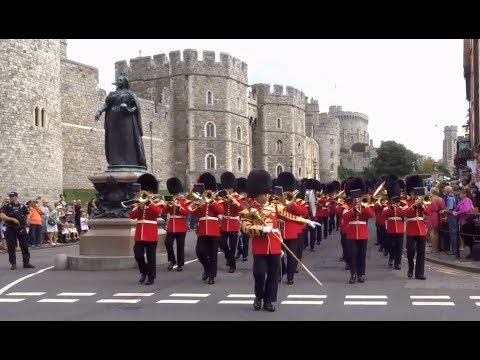 Changing the Guard at Windsor Castle - Saturday the 26th of August 2017