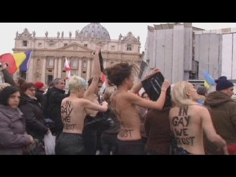 Topless protest at the Vatican
