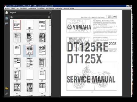 YAMAHA DT125RE, DT125X - SERVICE MANUAL on