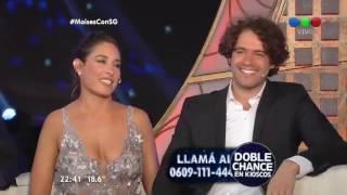 El elenco de Moisés en el living de Susana - Susana Giménez