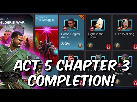 Free To Play Act 5 Chapter 3 - Full Completion Run?!? - Marvel Contest of Champions 2019