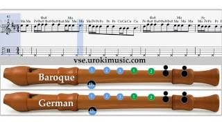 Аппликатура для блокфлейты - Вера Брежнева - Мамочка ноты для блокфлейты для начинающих