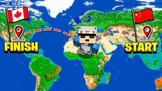 Travelling From CHINA To CANADA IN Minecraft!