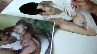 Portaretrato pintado en pintura de aceite    Padre e Hijo  1  #80