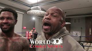 Roy Jones jr, talks Bernard Hopkins call out, fight  location, Glenn Hagler jr promising future.