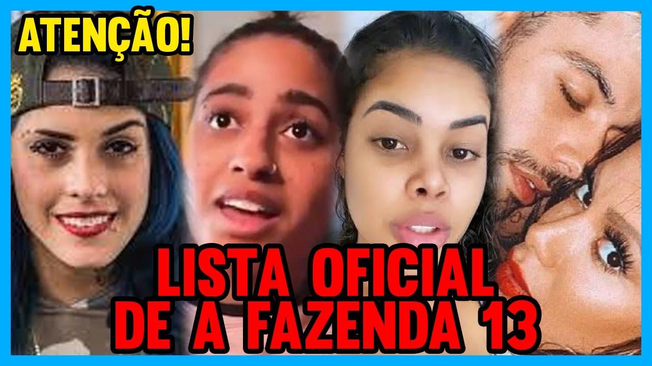 🔴URGENTE! VAZA LISTA OFICIAL DOS PARTICIPANTES DE A FAZENDA 13