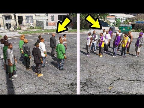 GTA 5 - O que acontece se os BALLAS se encontra com a GROVE STREET FAMILIES?