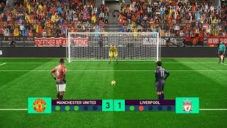 MANCHESTER UNITED vs LIVERPOOL | Penalty Shootout | PES 2019 Gameplay PC