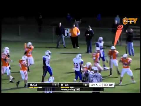 Middle Tennessee Christian School #45 Zach Brandon makes tackle for 3 yd loss