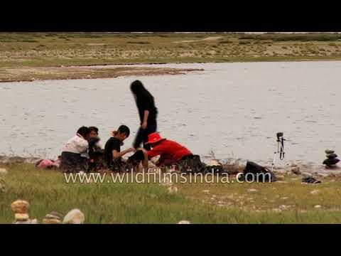Mansarovar lake in Tibet Autonomous Region