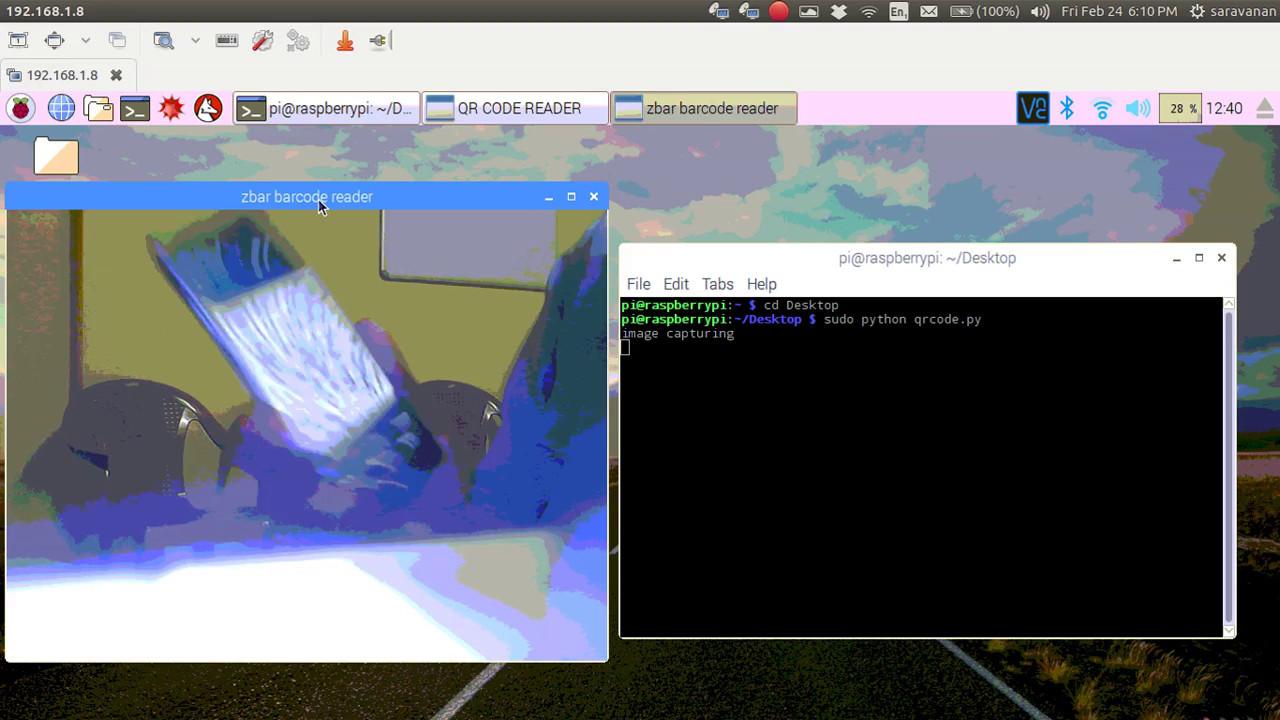 QR-Code decoder using Raspberry Pi