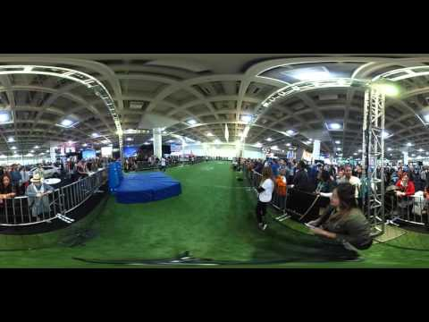 360 VIDEO: Skill drill at NFL Experience