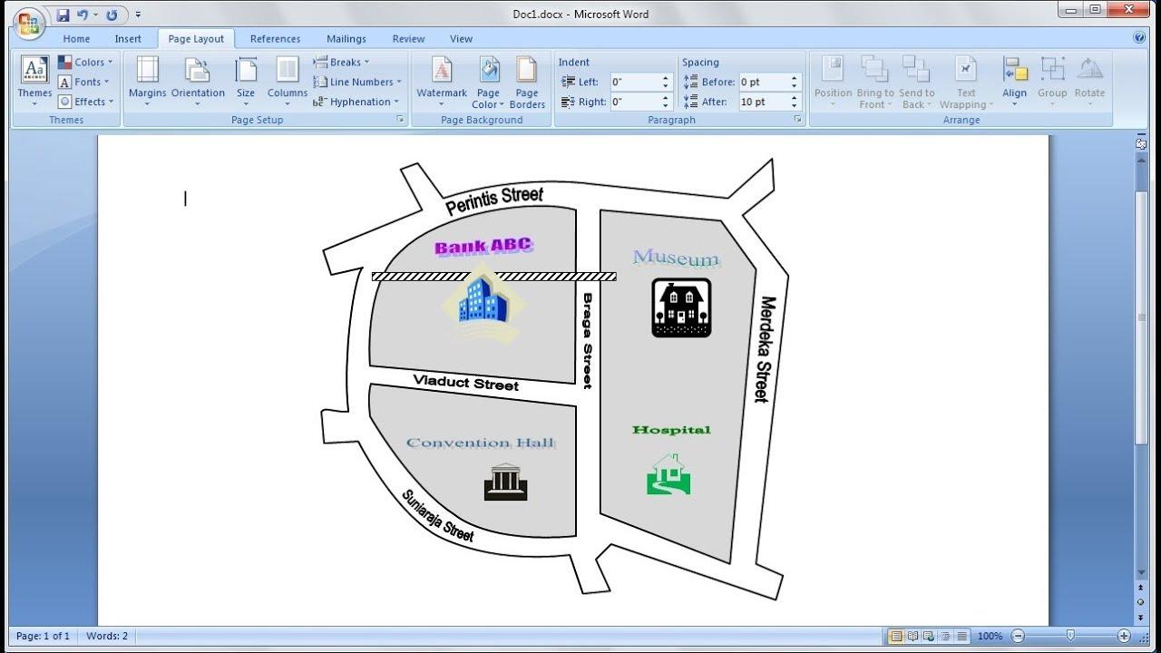 Belajar Microsoft Word 2007 Cara Mudah Membuat Peta Anda Sendiri Dengan Google Maps Di Word