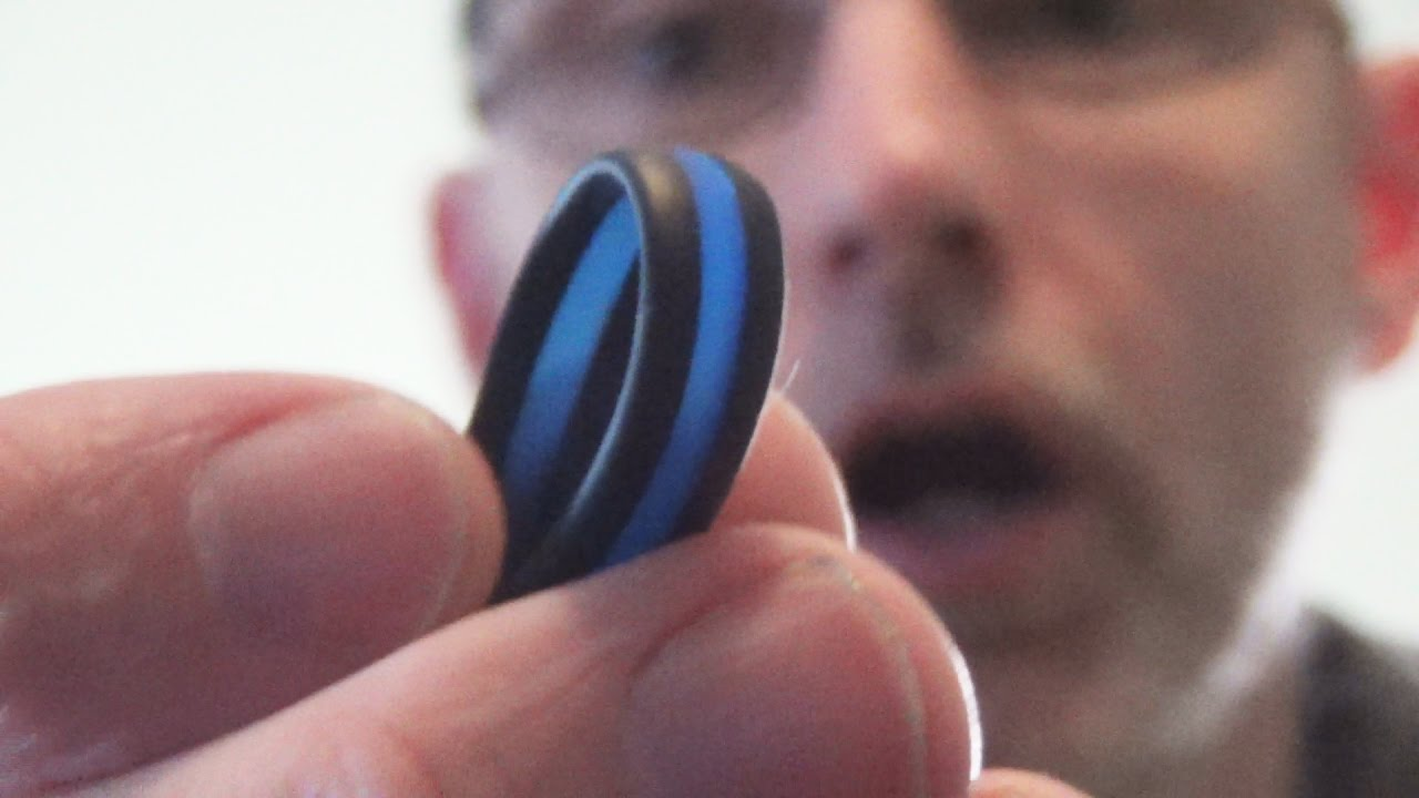 My Wedding Ring Qalo Silicon Thin Blue Line YouTube