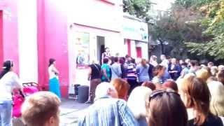 Давка за дешёвым секонд хендом в Одессе