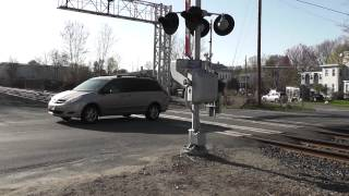 MBTA at Cherry St Crossing