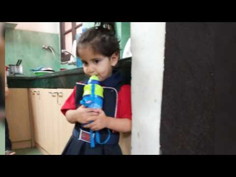 School chale hum Playway School first day Kindergarten Pre nursery Global wisdom school derabassi
