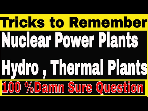 Nuclear power plants in India| Thermal & Hydro Power Plants | GK TRICKS to remember