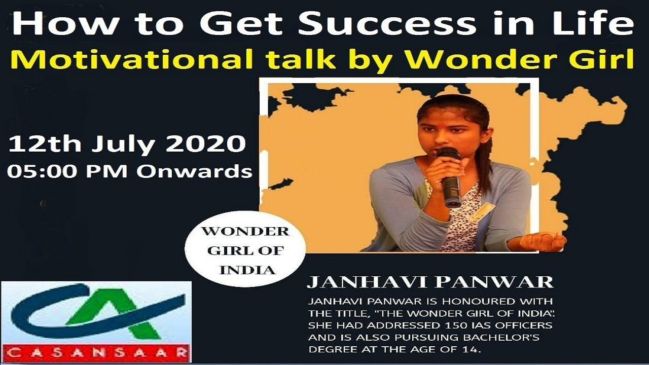 How to Get Success in Life - Motivational talk by Wonder Girl | Wonder Girl - Janhavi Panwar