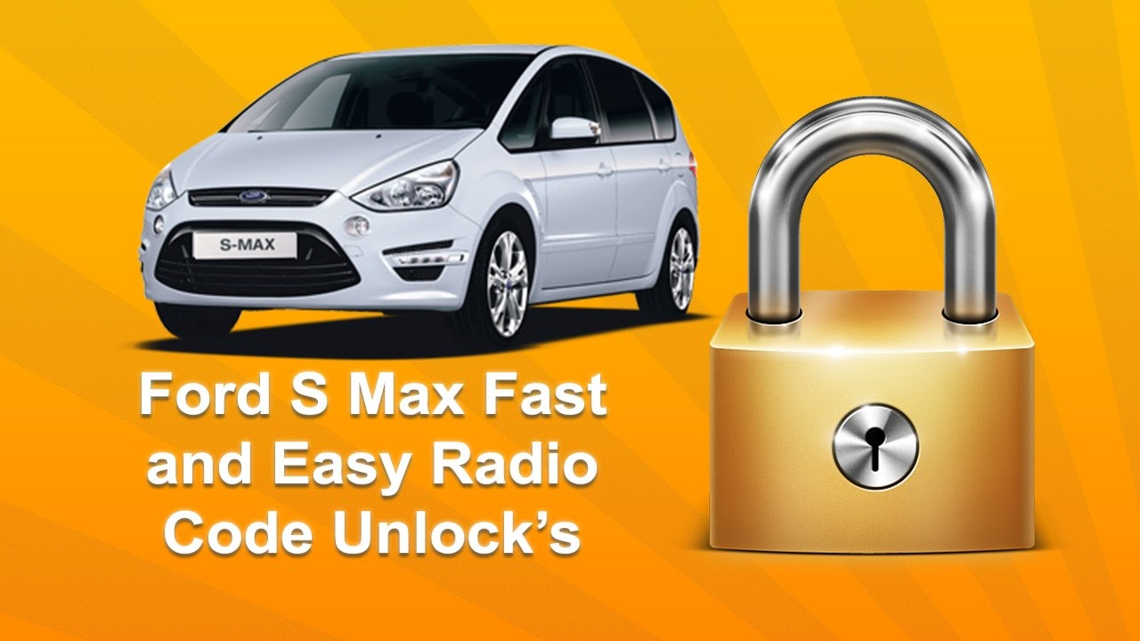 How To Find Ford S Max Radio Code Using Serial Unlock Youtube