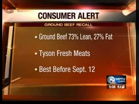 Tyson Fresh Meats recalling 131,300 pounds of ground beef