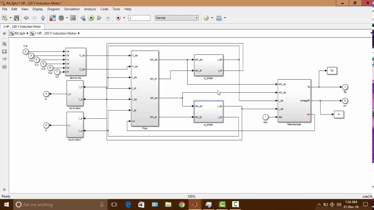 Modelling of single phase induction motor in simulink