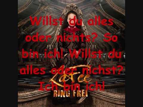 LaFee - Ich Bin Ich (Lyrics)