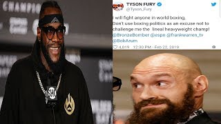 "BREAKING NEWS: TYSON FURY BLAMES DEONTAY WILDER, ""STOP MAKING EXCUSES & MAKE THE FIGHT !"