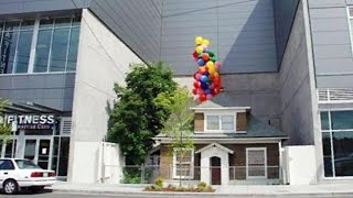 """The """"Up"""" house is floating away, for real"""